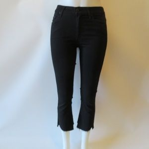 MOTHER JEANS CROP TWO STEP FRAY GLITTERED JEANS 26
